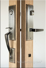 Handleset for multipoint locking system in Pewter Finish
