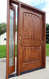 Rustic Door with Venting Sidelite
