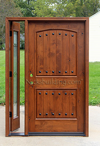 Rustic Door with Operable Sidelite