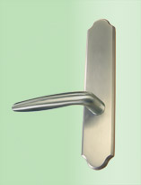 Torino Lever in Satin Nickel Finish