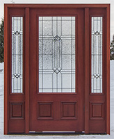 Mahogany Exterior Doors in Cherry