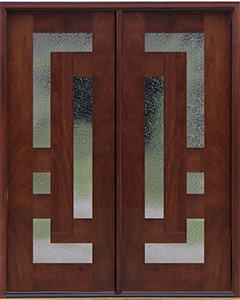 Arcadia Doors with Seedy Glass