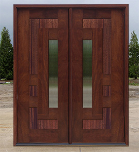 Arcadia door with center glass