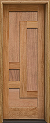 Arcadia Single Door with wood panels