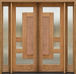 arcadia double doors config 1 with sidelights