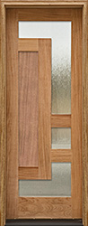 Arcadia Single Door with wood panels and glass