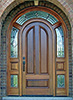 arched top exterior door with surround sidelite transom