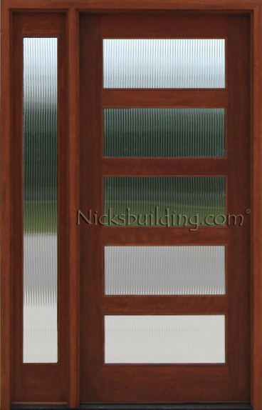 Craftsman mahogany door with 1 sidelite reed glass reded glass doors ac 501 planetlyrics Gallery