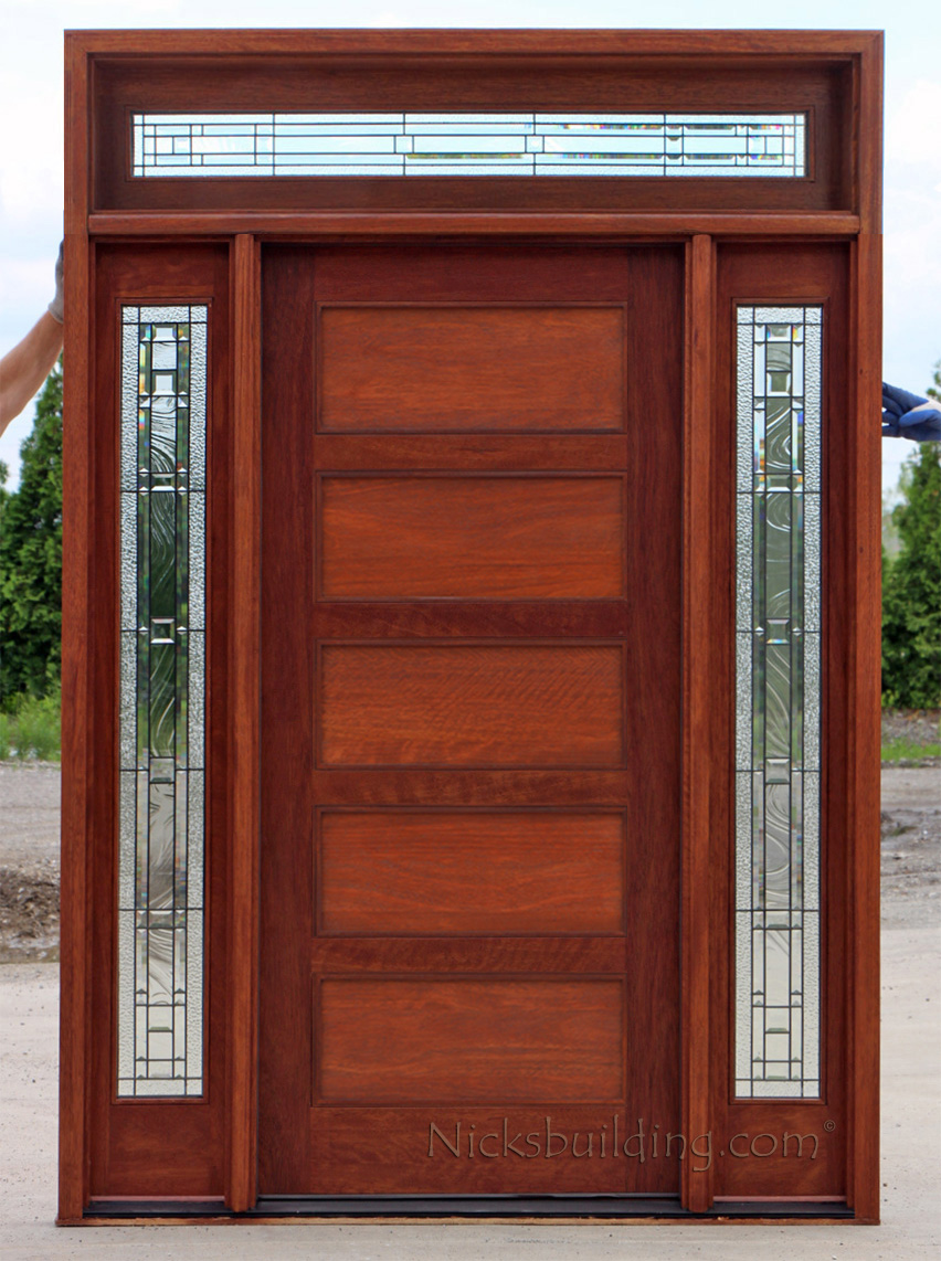 Entry doors with rectangular transoms 6 8 quot prehung - Modern Doors With Transom Shaker Panel Exterior Doors With Transom
