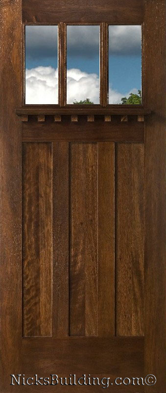 Craftsman Style Doors Clear Insulated Glass