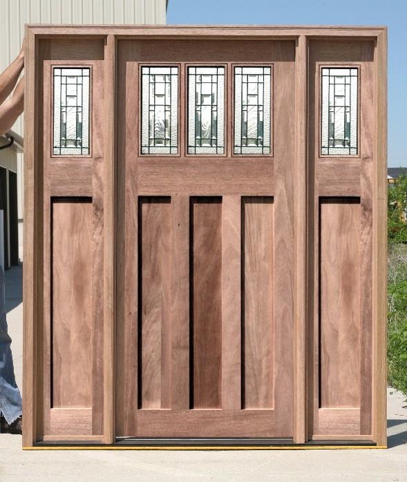Craftsman Style Front Door Exterior Entry Doors Arts Crafts Wooden Doors