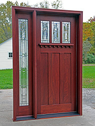 Craftsman Style Doors with 1 Sidelight