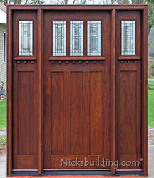 Craftsman Doors with 2 Sidelights