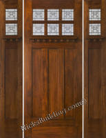 Craftsman Doors with Sidelights