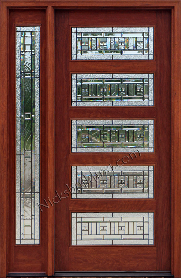 Craftsman Mahogany Door With 1 Sidelite