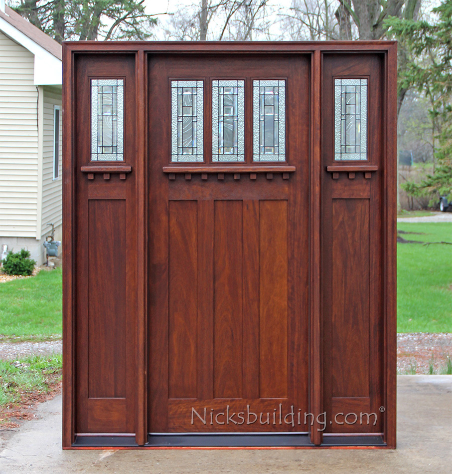 Style doors and sidelights craftsman style doors and sidelights planetlyrics Image collections