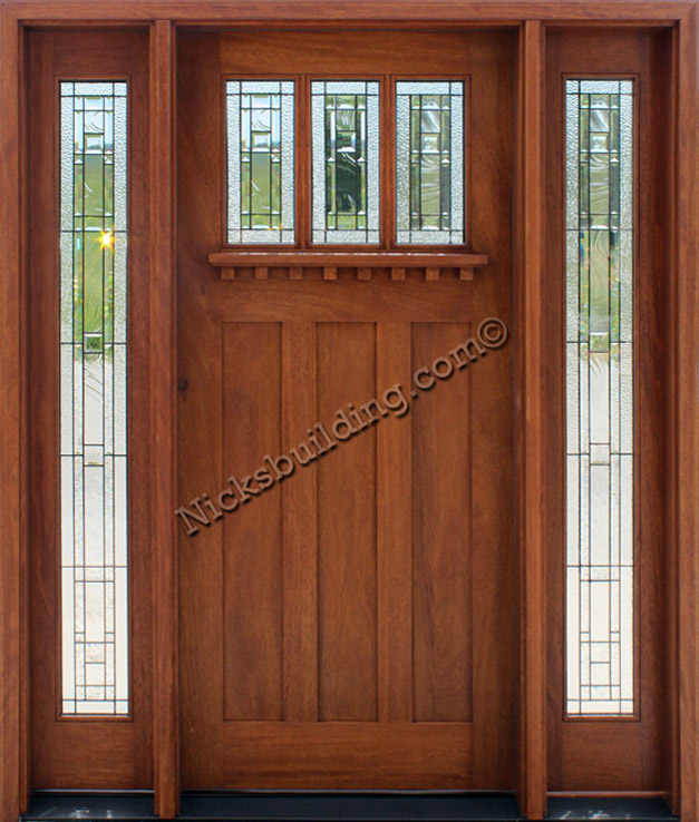 French doors with sidelights dimensions crafts for Exterior side entry doors