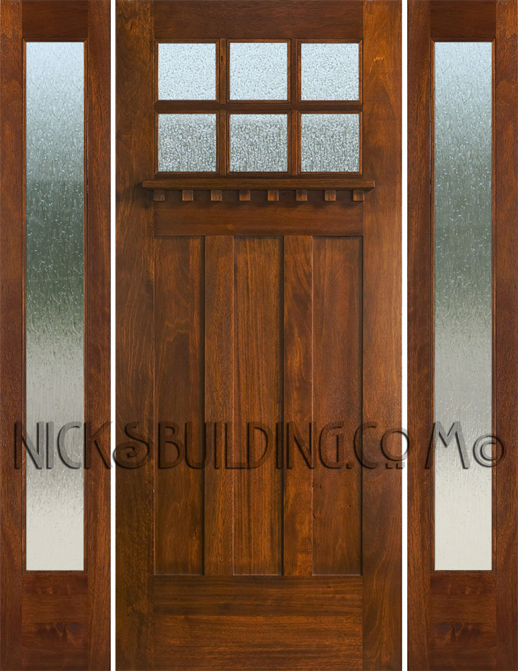 Craftsman Style Doors And Sidelights - Front door styles
