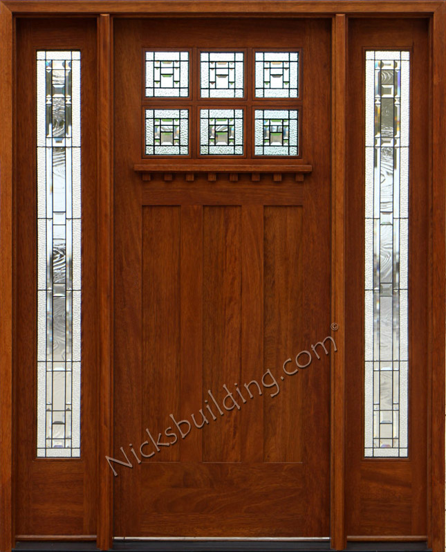 craftsman style front doors with glass