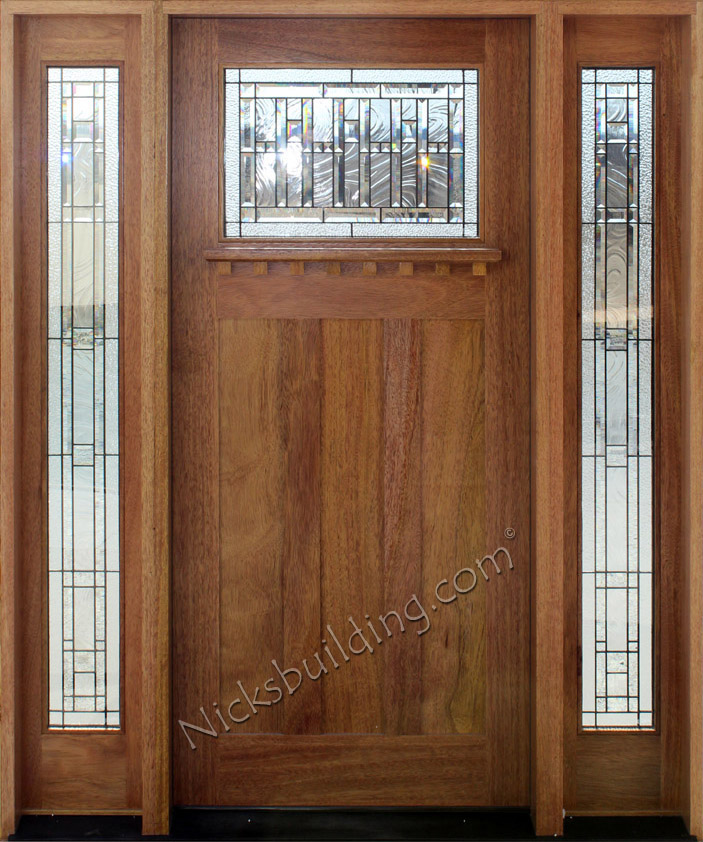 Craftsman front doors with sidelights for Front door styles