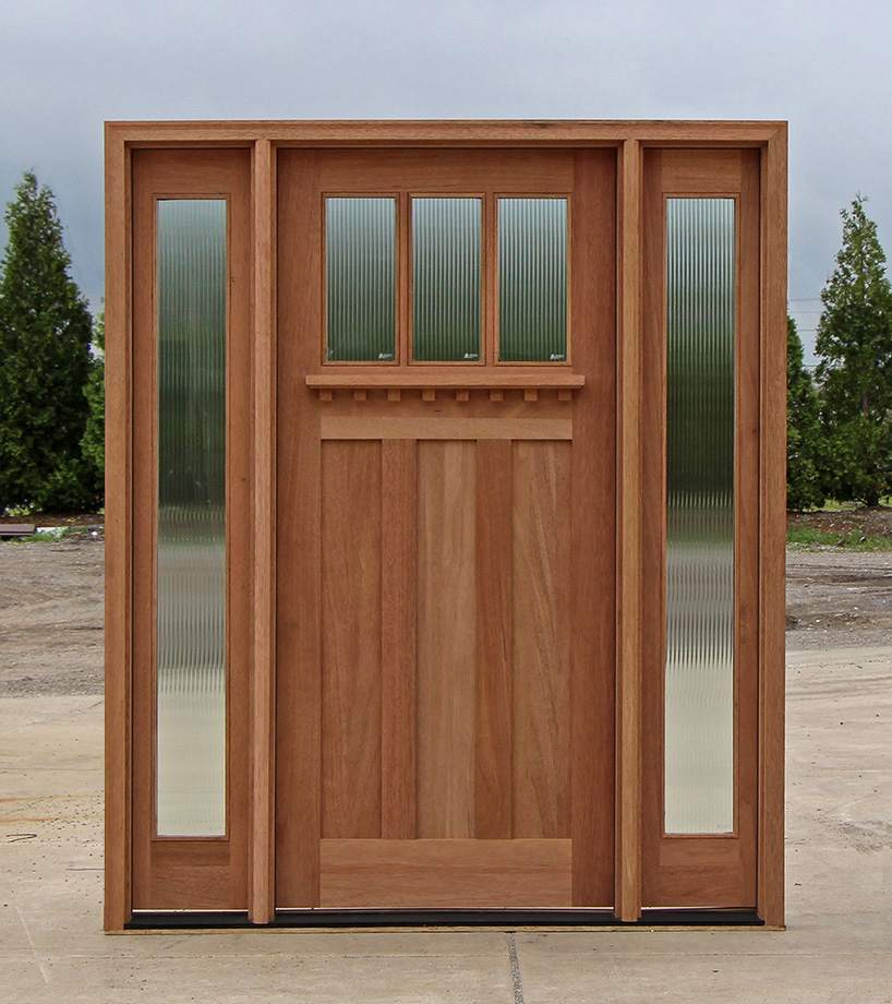 Craftsman style doors and sidelights for Front door and sidelights