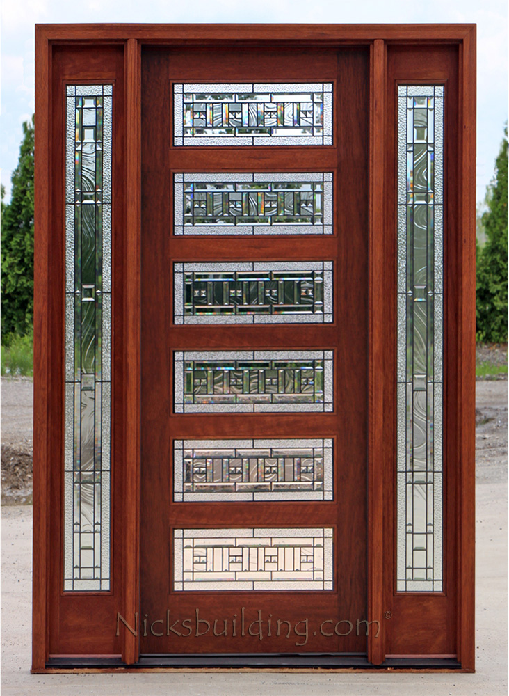 Craftsman style doors and sidelights ac401 ac201 sidelites art glass exterior modern doors ac508 with sidelights planetlyrics Image collections
