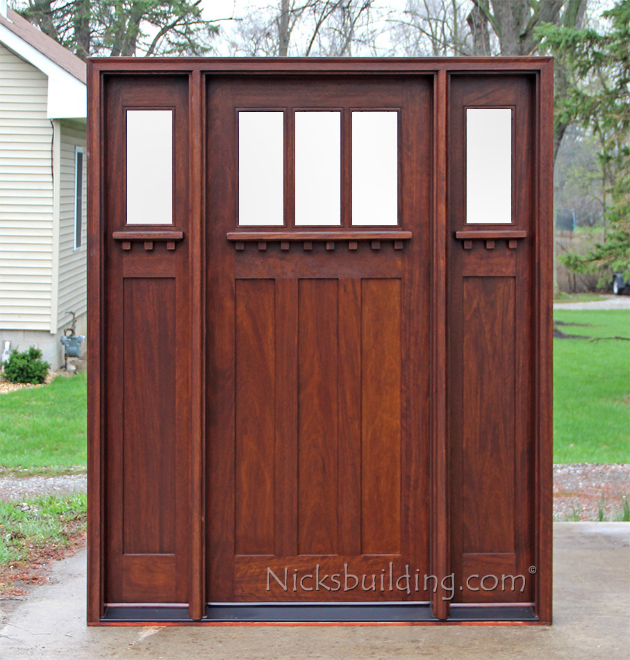 Craftsman style doors and sidelights ac601 with frosted glass planetlyrics Image collections