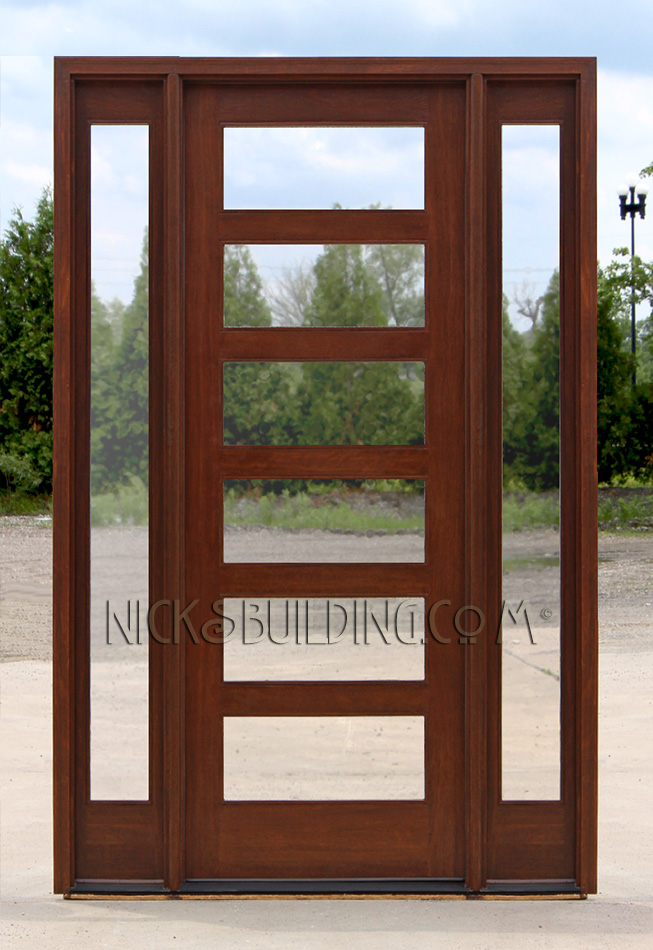 Craftsman style doors and sidelights Modern glass exterior doors