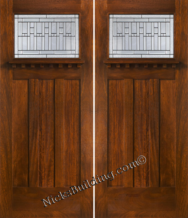 Craftsman Style Double Front Doors