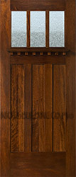Craftsman Style Entry Door with Rain Glass