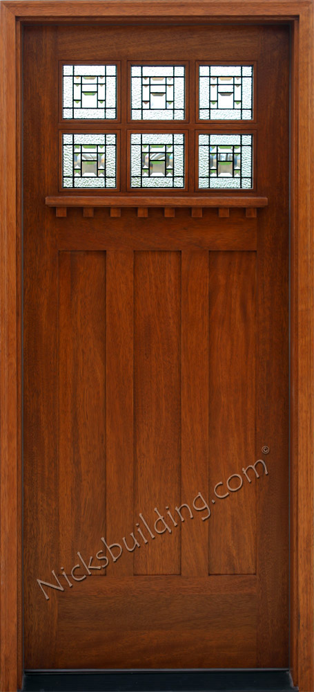 Craftsman style doors for Mission style entry doors