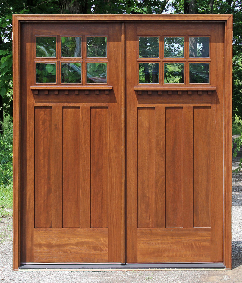 Craftsman style double doors for Home double entry doors