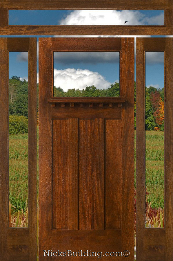 Craftsman Style Doors Sidelights And Transoms