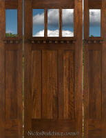 Exterior Craftsman Doors with 2 Sidelight