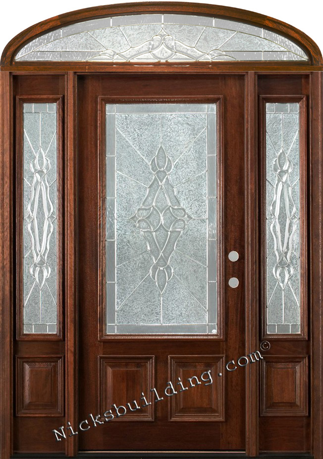 Wholesale Mahogany Doors With Sidelights Ready To Install