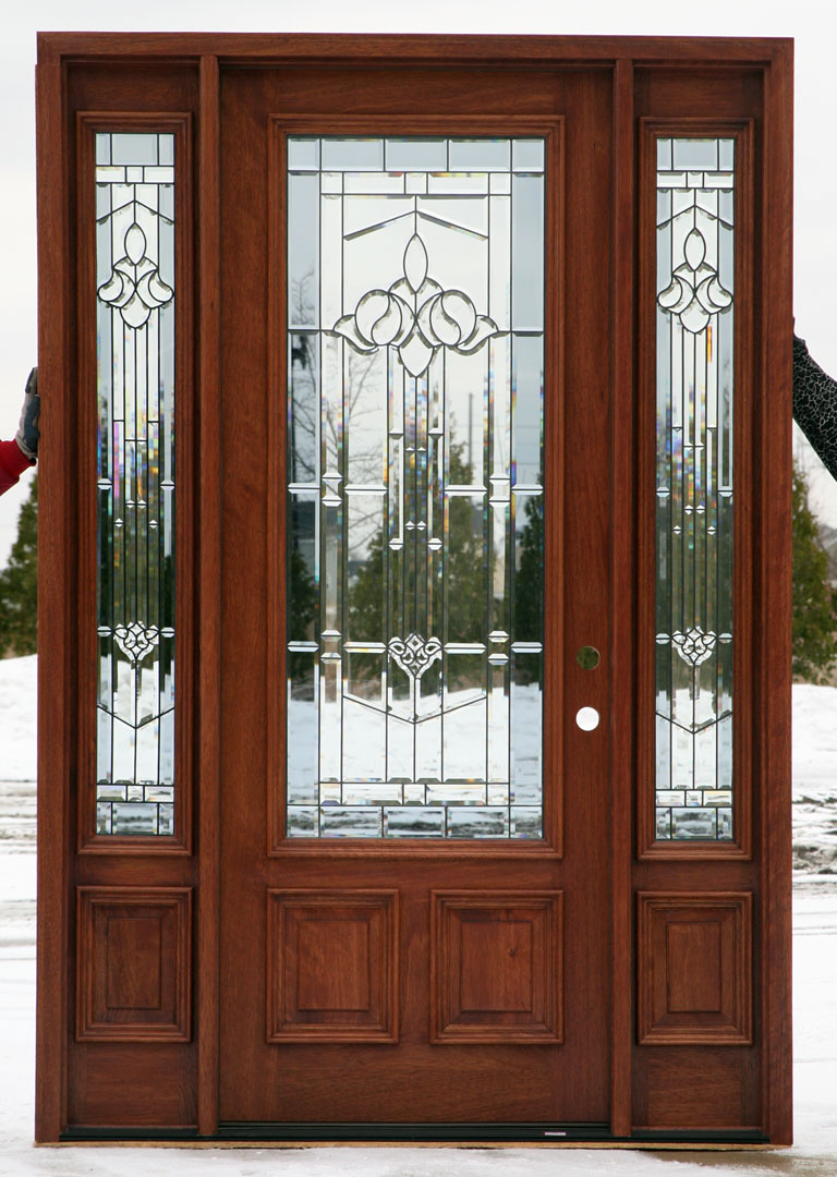 Front entry door with one sidelight front home and house for Front door and sidelights