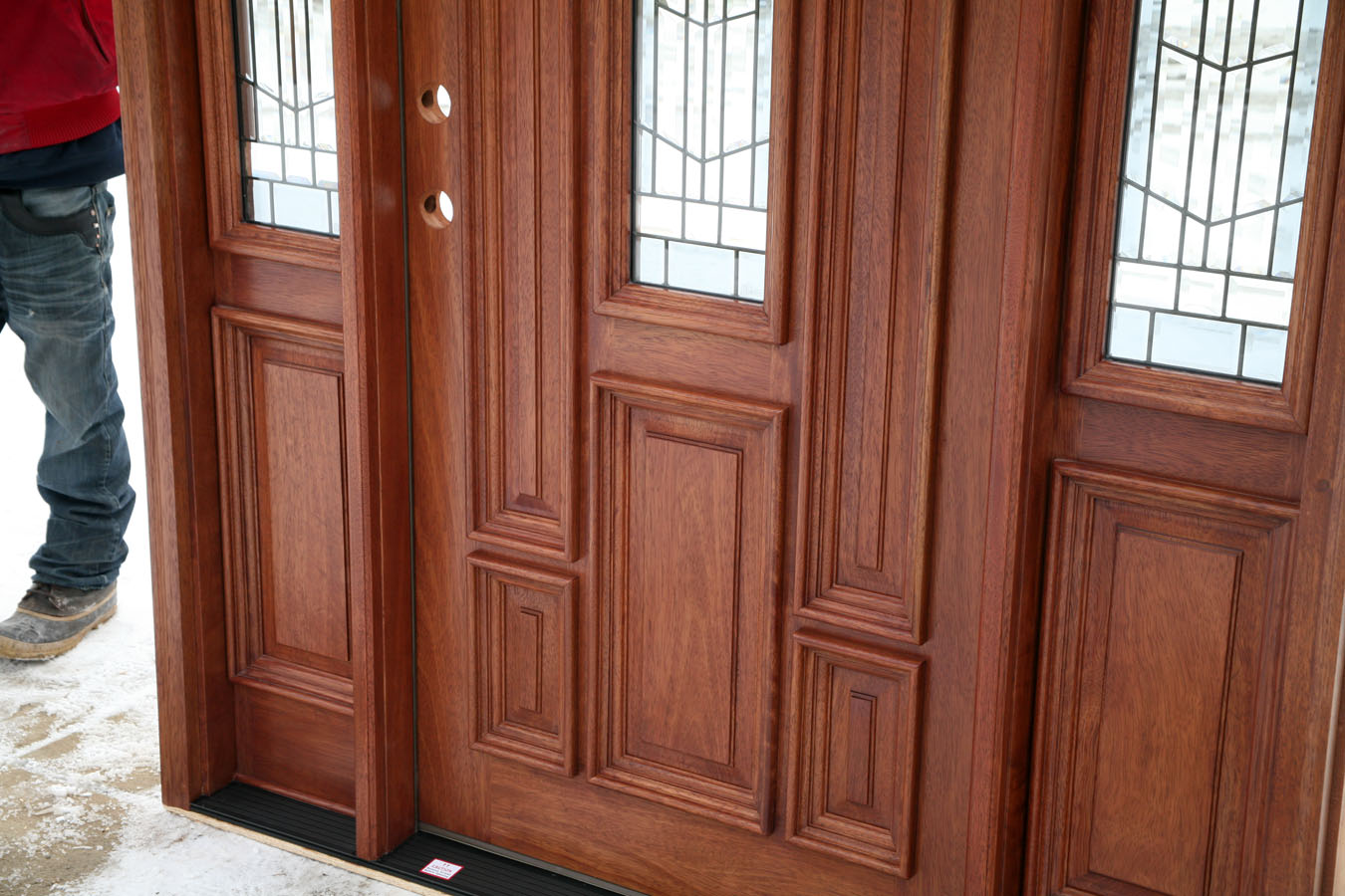 Exterior doors prehung with sidelights for External door designs