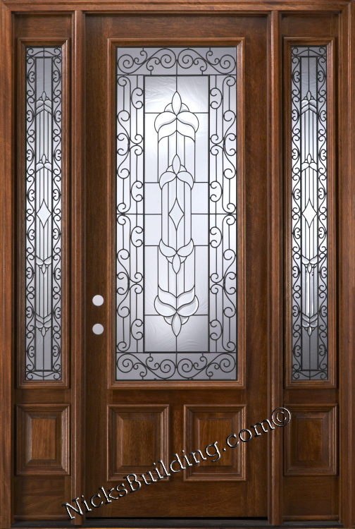 Exterior Wood Doors With Two Sidelights Quick Ship