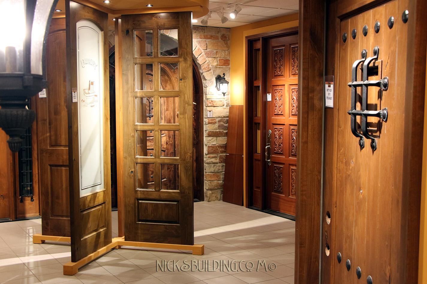 Knotty Alder Door Showroom & About Nicku0027s Building Supply | Door Supplier | Call (219) 682-0798