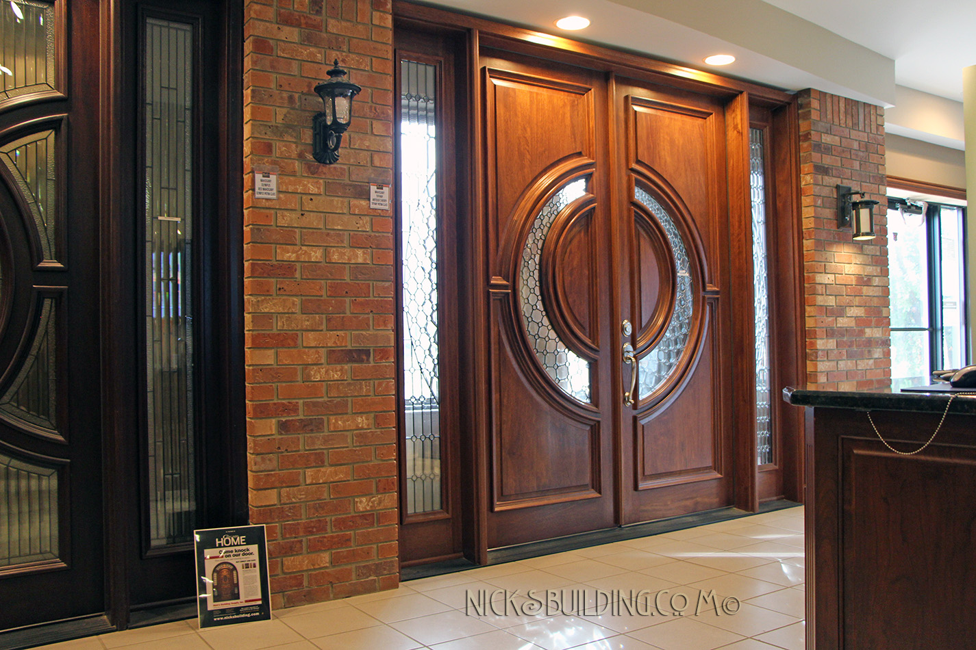 Mahogany Exterior Doors Display