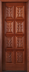 Carved Panel Entry Door