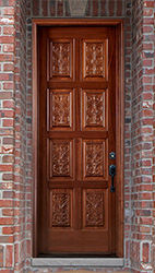 Carved mahogany doors the Baltic