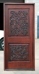 Carved Wine Grapes Door