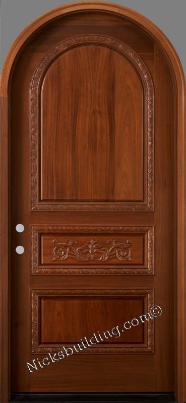 Round top doors mahogany arched exterior doors for Door design round