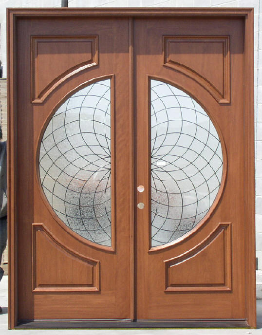Exterior Double Doors - Wood Front Entry Double Doors