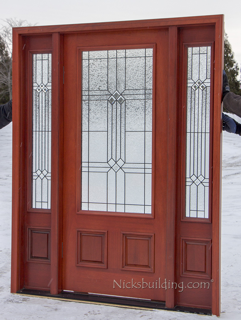 affordable front doors with cherry finish ... & Affordable Mahogany Front Doors with Cherry Finish