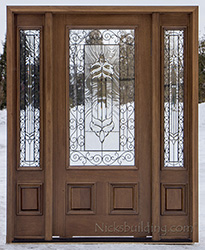 affordable front doors in Walnut Finish Model PFC 200