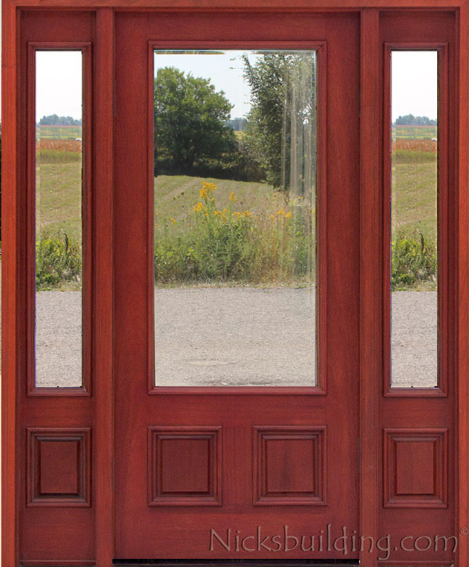 affordable mahogany front doors with cherry finish