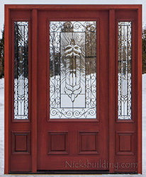 ... PFC-200 Iron Classic glass & Exterior Doors with Sidelights Wholesale Clearance Wood Doors pezcame.com