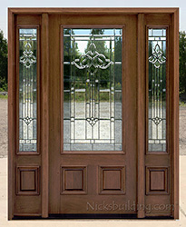 wood front door with sidelights 8 foot pfc200 majestic glass clearance exterior doors with sidelights
